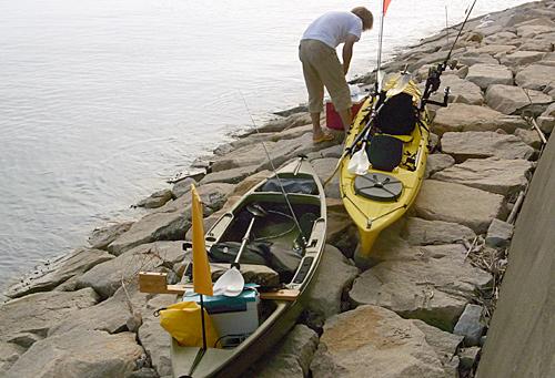 ゴムボートやカヤックの写真